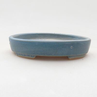 Keramische Bonsai-Schale 11,5 x 9 x 2 cm, Farbe blau - 1