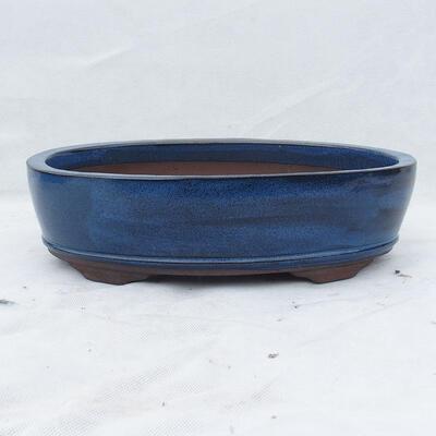 Bonsaischale 30 x 20 x 7 cm, Farbe blau - 1