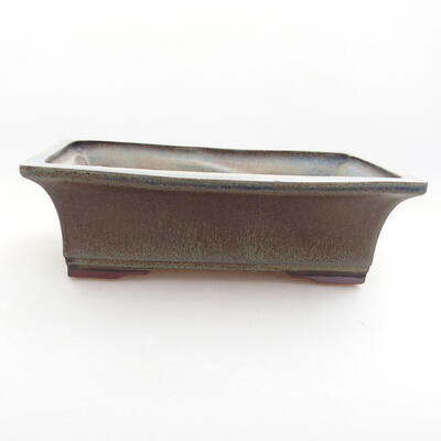Keramische Bonsai-Schale 20 x 15,5 x 6 cm, graue Farbe - 1