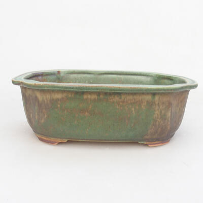 Keramische Bonsai-Schale 21,5 x 16,5 x 7 cm, Farbe grün - 1