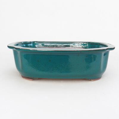 Keramische Bonsai-Schale 23,5 x 20 x 7 cm, Farbe grün - 1