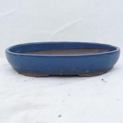 Bonsaischale 31 x 21 x 4,5 cm, Farbe blau - 1