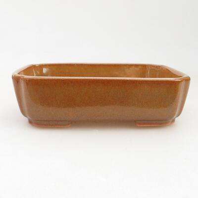 Keramische Bonsai-Schale 14,5 x 11 x 5 cm, braune Farbe - 1