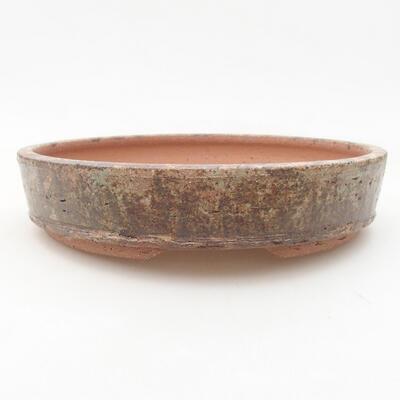 Keramische Bonsai-Schale 20 x 20 x 4 cm, Farbe braun - 1