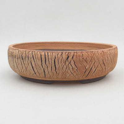 Keramische Bonsai-Schale 26,5 x 26,5 x 7 cm, rissige Farbe - 1