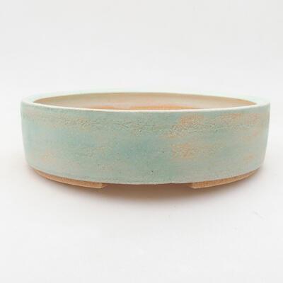 Keramische Bonsai-Schale 20 x 20 x 5,5 cm, Farbe grün - 1