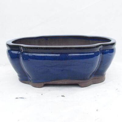 Bonsaischale 41 x 33 x 15 cm, Farbe blau - 1