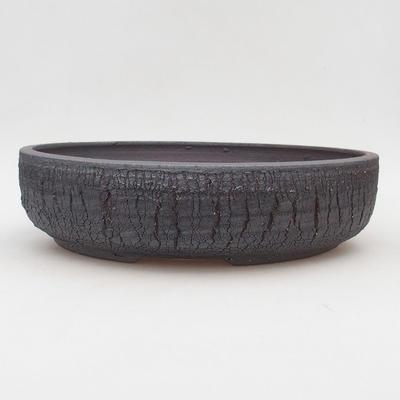 Keramik Bonsai Schüssel 30 x 30 x 7 cm, Farbe rissig - 1