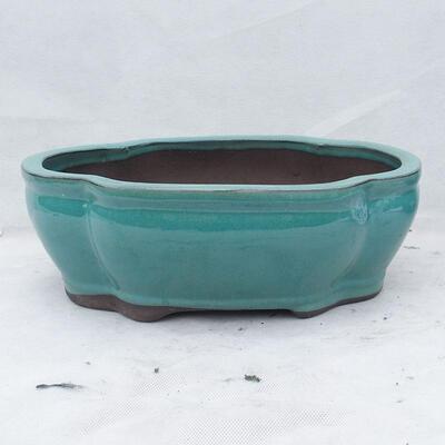 Bonsaischale 35 x 27 x 11 cm, Farbe grün - 1