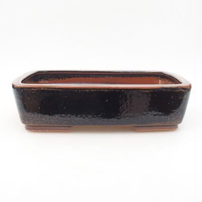 Keramische Bonsai-Schale 25 x 19,5 x 6,5 cm, Farbe schwarzbraun - 1