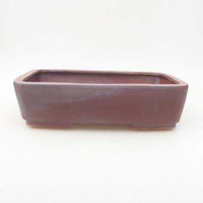 Keramische Bonsai-Schale 25 x 19,5 x 6,5 cm, graue Farbe - 1