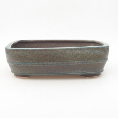 Keramische Bonsai-Schale 24 x 19 x 7 cm, graue Farbe - 1