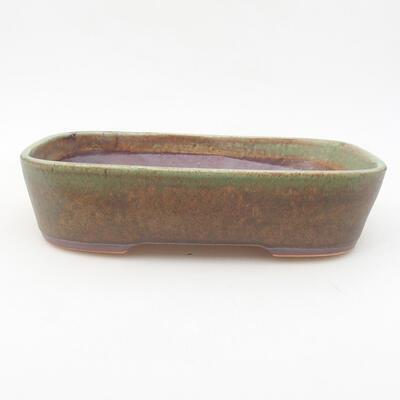 Keramische Bonsai-Schale 23 x 17,5 x 5 cm, Farbe grün - 1