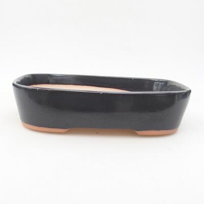 Keramische Bonsai-Schale 23 x 17,5 x 5 cm, graue Farbe - 1
