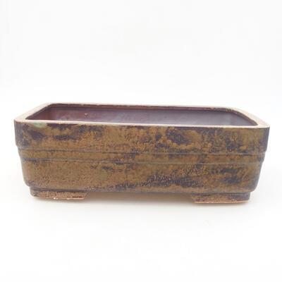 Keramische Bonsai-Schale 26 x 20 x 8 cm, Farbe braun - 1
