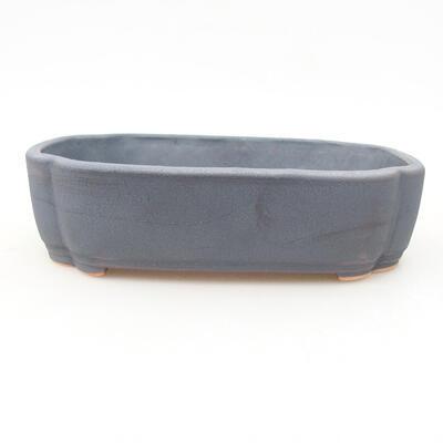 Keramische Bonsai-Schale 15 x 11 x 4 cm, Metallfarbe - 1