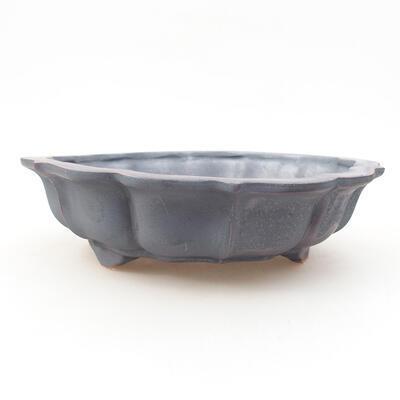 Keramische Bonsai-Schale 17 x 17 x 4,5 cm, Metallfarbe - 1