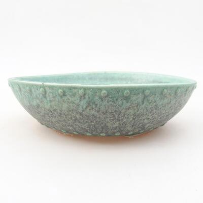 Keramische Bonsai-Schale 17 x 17 x 4,5 cm, Farbe grün - 1