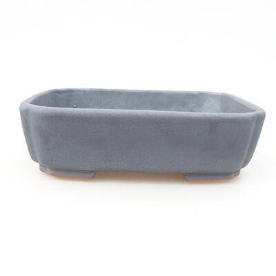 Keramische Bonsai-Schale 15 x 11,5 x 4 cm, Metallfarbe - 1