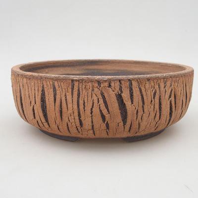 Keramische Bonsai-Schale 21 x 21 x 7 cm, Farbe rissig - 1