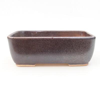 Keramische Bonsai-Schale 15,5 x 10,5 x 5 cm, braune Farbe - 1
