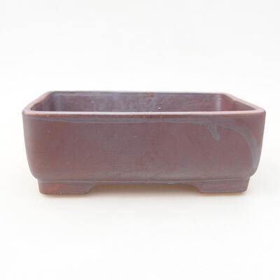 Keramische Bonsai-Schale 14,5 x 11,5 x 4,5 cm, graue Farbe - 1