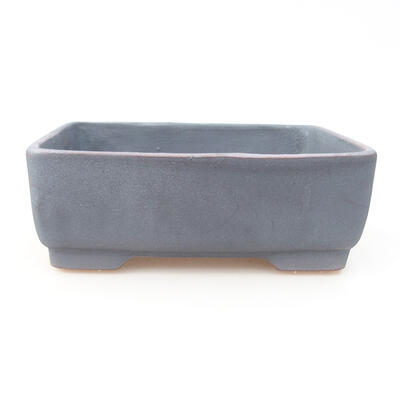 Keramische Bonsai-Schale 14,5 x 11,5 x 4,5 cm, Metallfarbe - 1