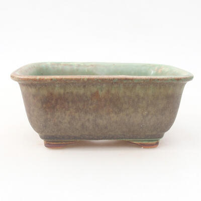Keramische Bonsai-Schale 13 x 10 x 5 cm, Farbe grün - 1