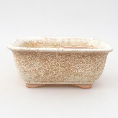 Keramische Bonsai-Schale 13 x 10 x 5 cm, beige Farbe - 1