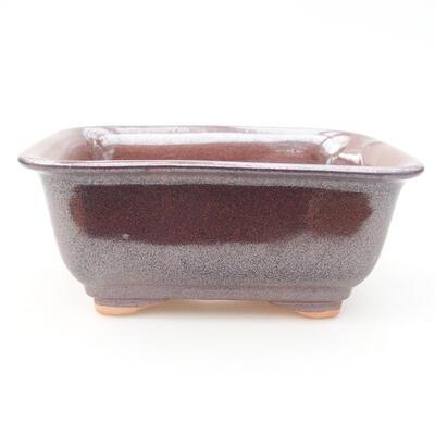 Keramische Bonsai-Schale 13 x 10 x 5 cm, braune Farbe - 1