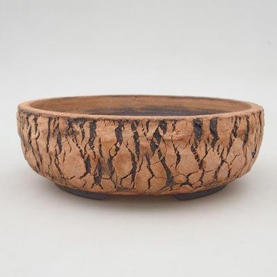 Keramische Bonsai-Schale 18 x 18 x 6 cm, Farbe rissig - 1