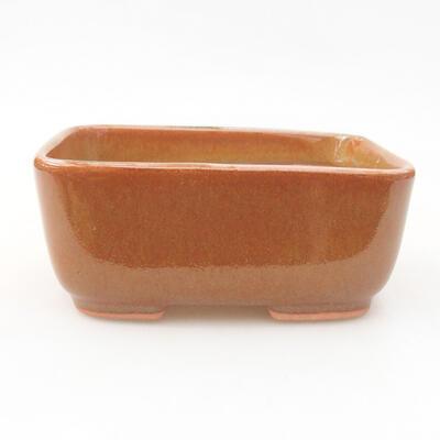 Keramische Bonsai-Schale 13 x 10 x 5,5 cm, braune Farbe - 1