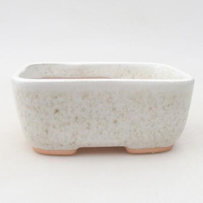 Keramische Bonsai-Schale 13 x 10 x 5,5 cm, weiße Farbe - 1