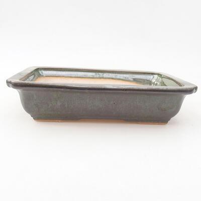 Keramische Bonsai-Schale 17 x 12,5 x 3,5 cm, Farbe grün - 1