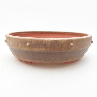 Keramische Bonsai-Schale 19 x 19 x 5,5 cm, braune Farbe - 1