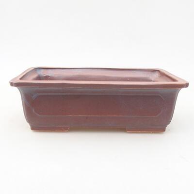 Keramische Bonsai-Schale 16,5 x 11 x 5 cm, Metallfarbe - 1