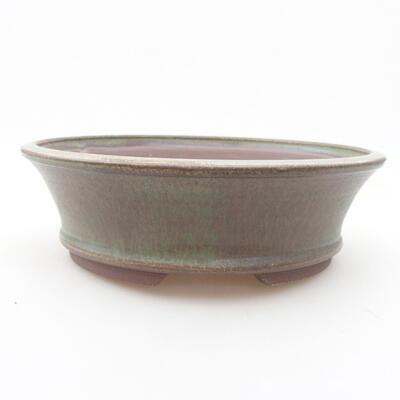 Keramische Bonsai-Schale 19,5 x 19,5 x 6 cm, Farbe grün - 1
