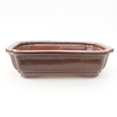 Keramische Bonsai-Schale 17 x 13 x 4,5 cm, braune Farbe - 1