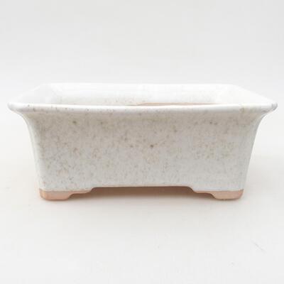 Keramische Bonsai-Schale 17,5 x 14 x 7 cm, weiße Farbe - 1