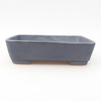 Keramische Bonsai-Schale 17 x 13 x 4,5 cm, Metallfarbe - 1