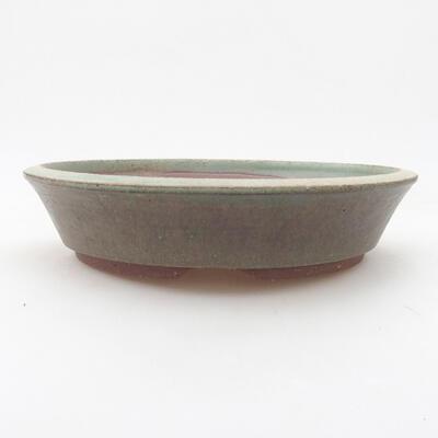 Keramische Bonsai-Schale 20 x 20 x 4,5 cm, Farbe grün - 1