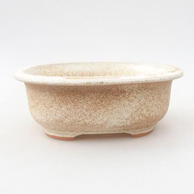 Keramische Bonsai-Schale 14 x 11 x 5 cm, beige Farbe - 1