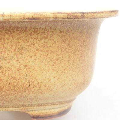 Keramische Bonsai-Schale 14 x 11 x 5 cm, Farbe gelb - 1