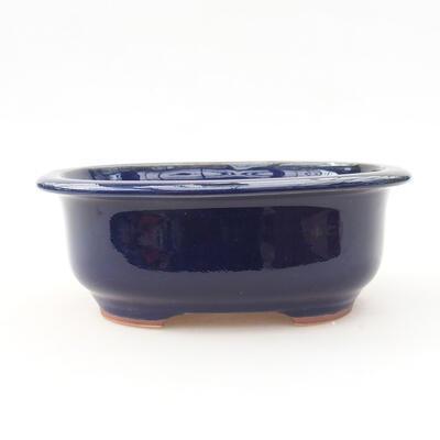 Keramische Bonsai-Schale 14 x 11 x 5 cm, Farbe blau - 1