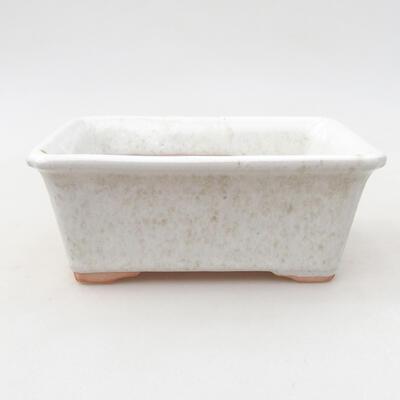 Keramische Bonsai-Schale 13 x 10 x 5 cm, weiße Farbe - 1