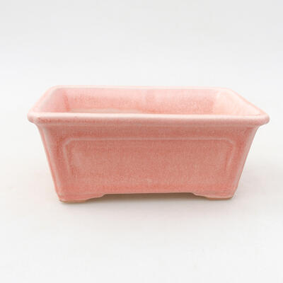 Keramik Bonsai Schüssel 13 x 10 x 5 cm, Farbe rosa - 1