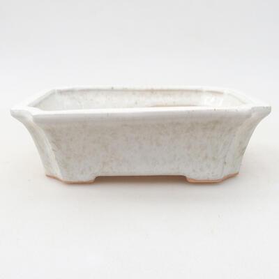 Keramische Bonsai-Schale 12,5 x 10 x 4 cm, weiße Farbe - 1