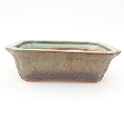 Keramische Bonsai-Schale 12 x 9,5 x 4 cm, Farbe grün - 1