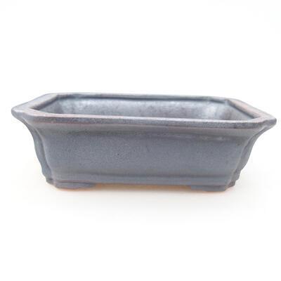 Keramische Bonsai-Schale 12 x 9,5 x 4 cm, Metallfarbe - 1