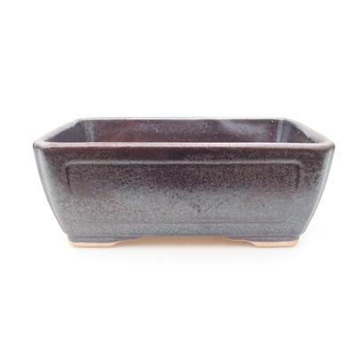 Keramische Bonsai-Schale 15 x 11,5 x 5,5 cm, braune Farbe - 1